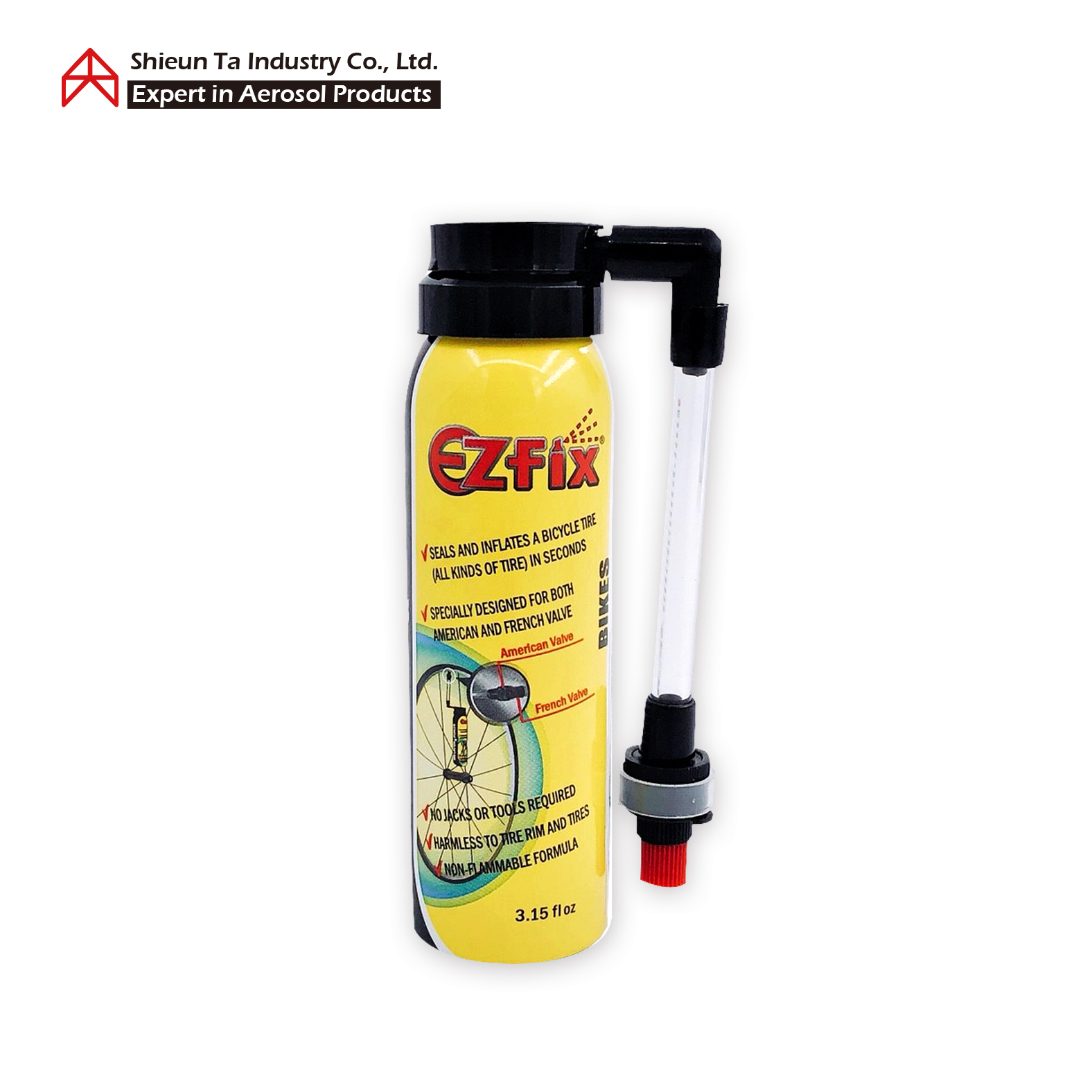 Inflator & Sealer for a bicycle tire